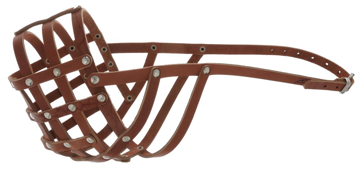 Намордник для собак Аркон, цвет: коньячный. Размер 32 см. нм32 комплект для собак аркон стандарт 6 цвет красный 2 предмета