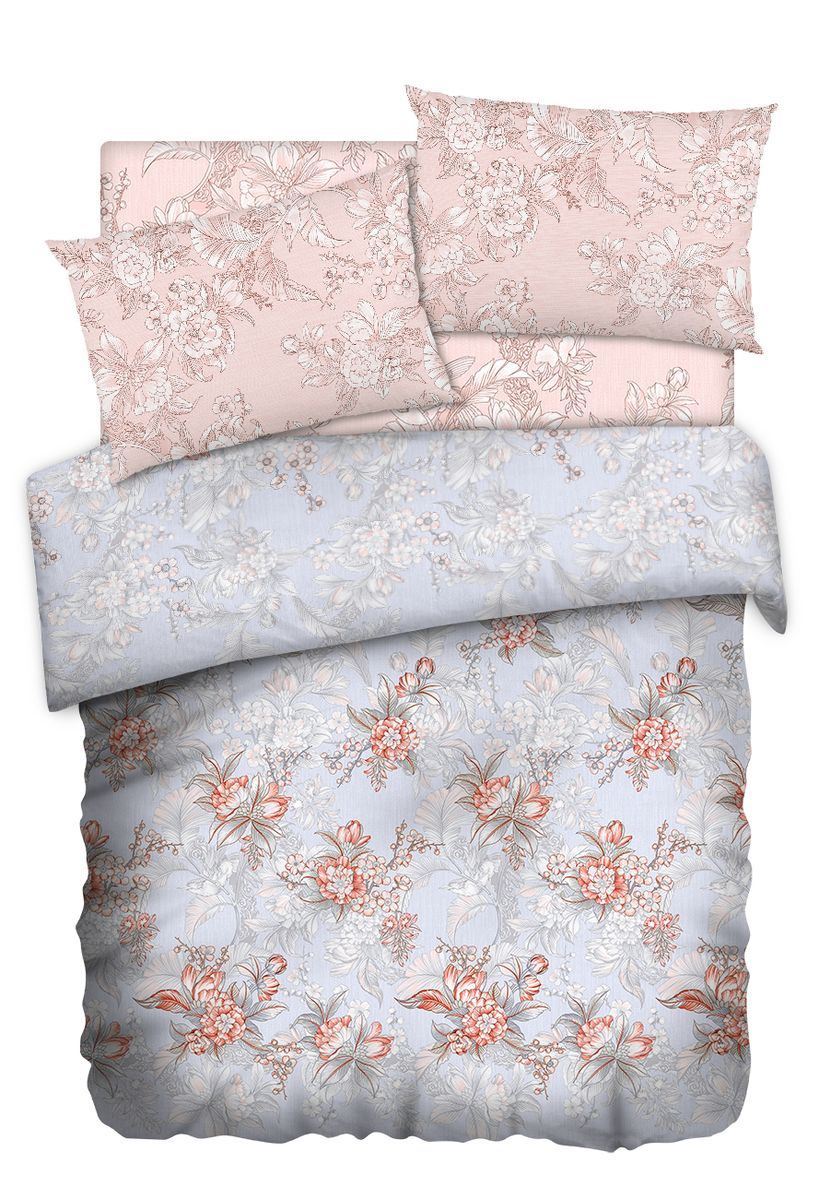 Комплект белья Carte Blanshe Misty Morning, 2-х спальное, наволочки 50x70, цвет: розовый. 333463333463Коллекция эксклюзивного постельного белья, созданная итальянскими дизайнерами прекрасногостаринного городка Италии — Riva del Gard. Постельное белье выполнено из великолепной ткани премиум — класса «Percale Soft Touch». Эта ткань произведена из 100% натурального хлопкаимеет специальную обработку «Wise Silk», которая придает дополнительную гладкость и шелковистость ткани. Благодаря специальной обработке ткань более приятная на ощупь, практически не мнется.