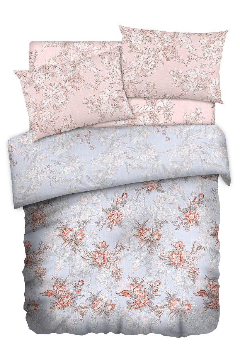 Комплект белья Carte Blanshe Misty Morning, 1,5-спальный, наволочки 50x70, цвет: розовый. 333445333445Комплект белья Carte Blanshe - это роскошное постельное белье из эксклюзивной коллекции, созданной итальянскими дизайнерами прекрасногостаринного городка Италии - Riva del Gard. Постельное белье выполнено из великолепной ткани премиум - класса Percale Soft Touch. Эта ткань произведена из 100% натурального хлопкаимеет специальную обработку Wise Silk, которая придает дополнительную гладкость и шелковистость ткани. Благодаря специальной обработке ткань более приятная на ощупь, практически не мнется.