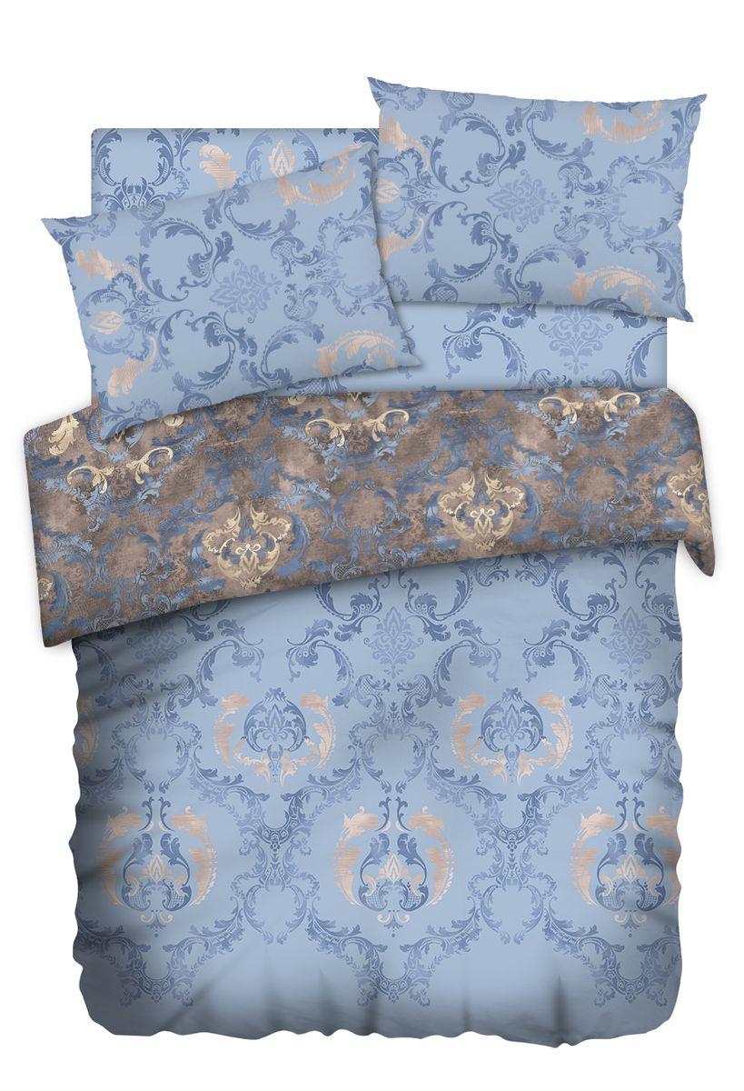 Комплект белья Carte Blanshe Vintage blue, 2-х спальное, наволочки 50x70, цвет: синий. 333466333466Коллекция эксклюзивного постельного белья, созданная итальянскими дизайнерами прекрасногостаринного городка Италии — Riva del Gard. Постельное белье выполнено из великолепной ткани премиум — класса «Percale Soft Touch». Эта ткань произведена из 100% натурального хлопкаимеет специальную обработку «Wise Silk», которая придает дополнительную гладкость и шелковистость ткани. Благодаря специальной обработке ткань более приятная на ощупь, практически не мнется.