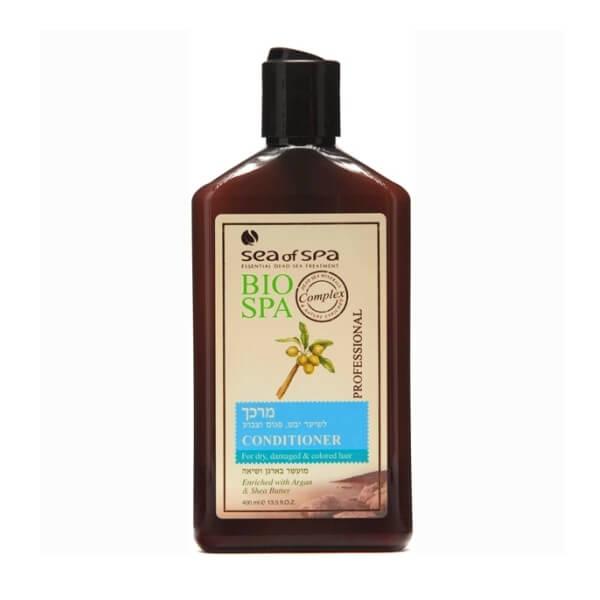 Sea of Spa Кондиционер для окраш/поврежденных волос с маслом Аргании и Ши, 400 мл6200- защищает волос от попадания в его структуру пигментов краски, которые разрушают его;- оживляет блеск волос, защищает от вымывания и выгорания цвета окрашенных волос;- минералы укрепляют и защищают от ломкости;- не утяжеляет прическу: волосы послушные и легкие.