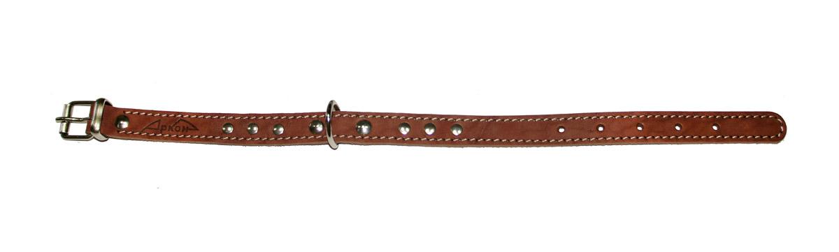 Ошейник Аркон Стандарт, цвет: коньячный, ширина 1,6 см, длина 36 см коньячный набор