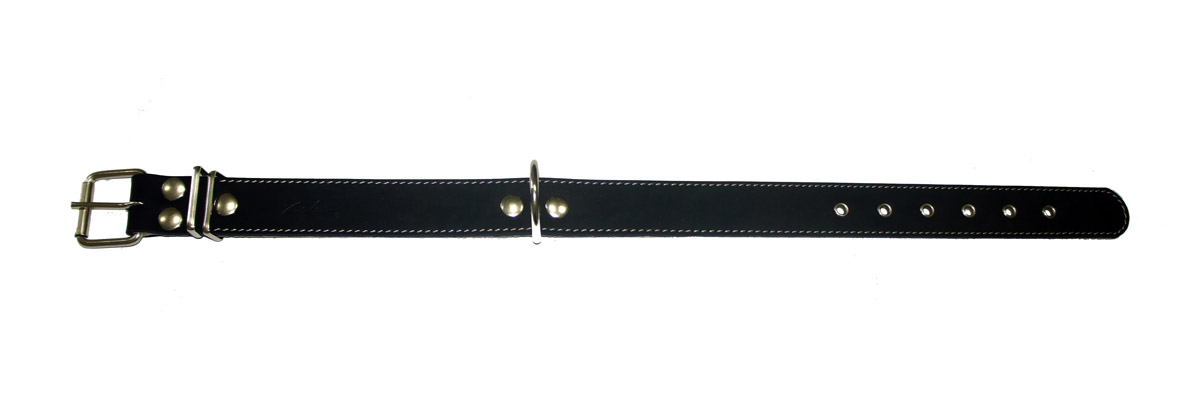 Ошейник Аркон Стандарт, цвет: черный, ширина 3,5 см, длина 71 см ошейник для собак аркон фетр цвет красный черный ширина 2 см длина 27 39 см