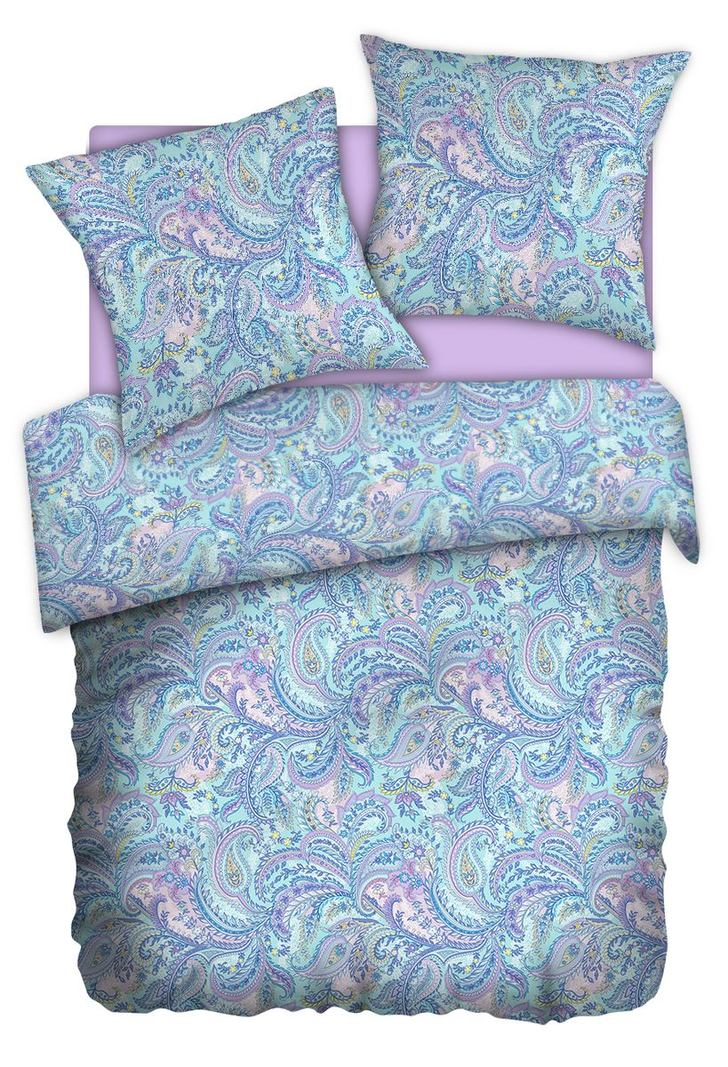 Комплект белья Carte Blanshe Paisley lazure, 1,5 спальное, наволочки 70x70, цвет: бирюзовый. 333456333456Коллекция эксклюзивного постельного белья, созданная итальянскими дизайнерами прекрасногостаринного городка Италии — Riva del Gard. Постельное белье выполнено из великолепной ткани премиум — класса «Percale Soft Touch». Эта ткань произведена из 100% натурального хлопкаимеет специальную обработку «Wise Silk», которая придает дополнительную гладкость и шелковистость ткани. Благодаря специальной обработке ткань более приятная на ощупь, практически не мнется.