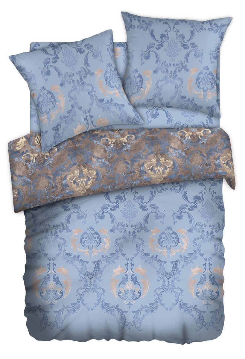 Комплект белья Carte Blanshe Vintage blue, 1,5-спальный, наволочки 70x70. 333457333457Комплект белья Carte Blanshe - это роскошное постельное белье из эксклюзивной коллекции, созданной итальянскими дизайнерами прекрасногостаринного городка Италии - Riva del Gard. Постельное белье выполнено из великолепной ткани премиум - класса Percale Soft Touch. Эта ткань произведена из 100% натурального хлопкаимеет специальную обработку Wise Silk, которая придает дополнительную гладкость и шелковистость ткани. Благодаря специальной обработке ткань более приятная на ощупь, практически не мнется.