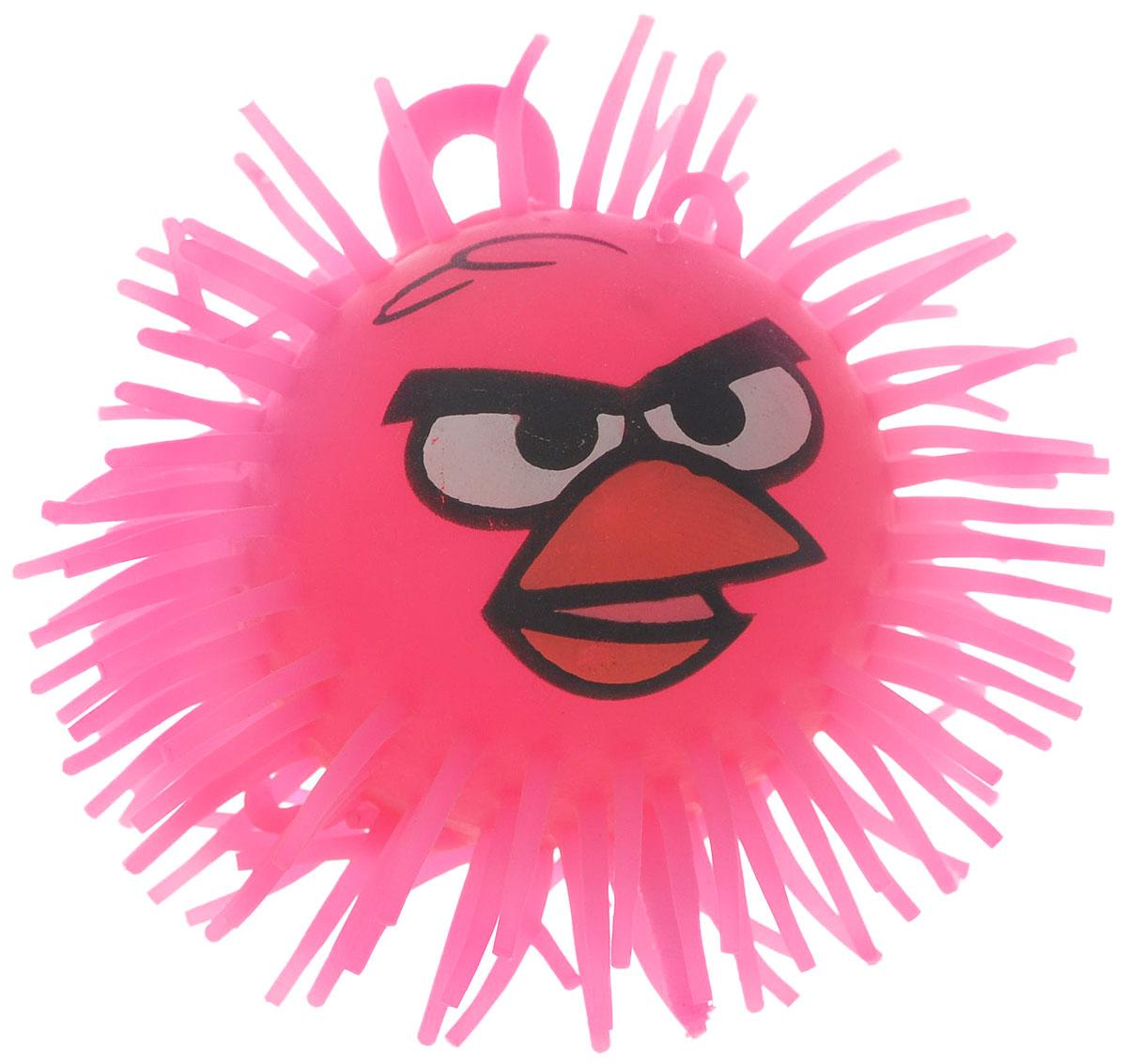 1TOY Игрушка-антистресс Ё-Ёжик Злая птичка цвет розовый диаметр 9 см злая птица ё ёжик со светомт56233
