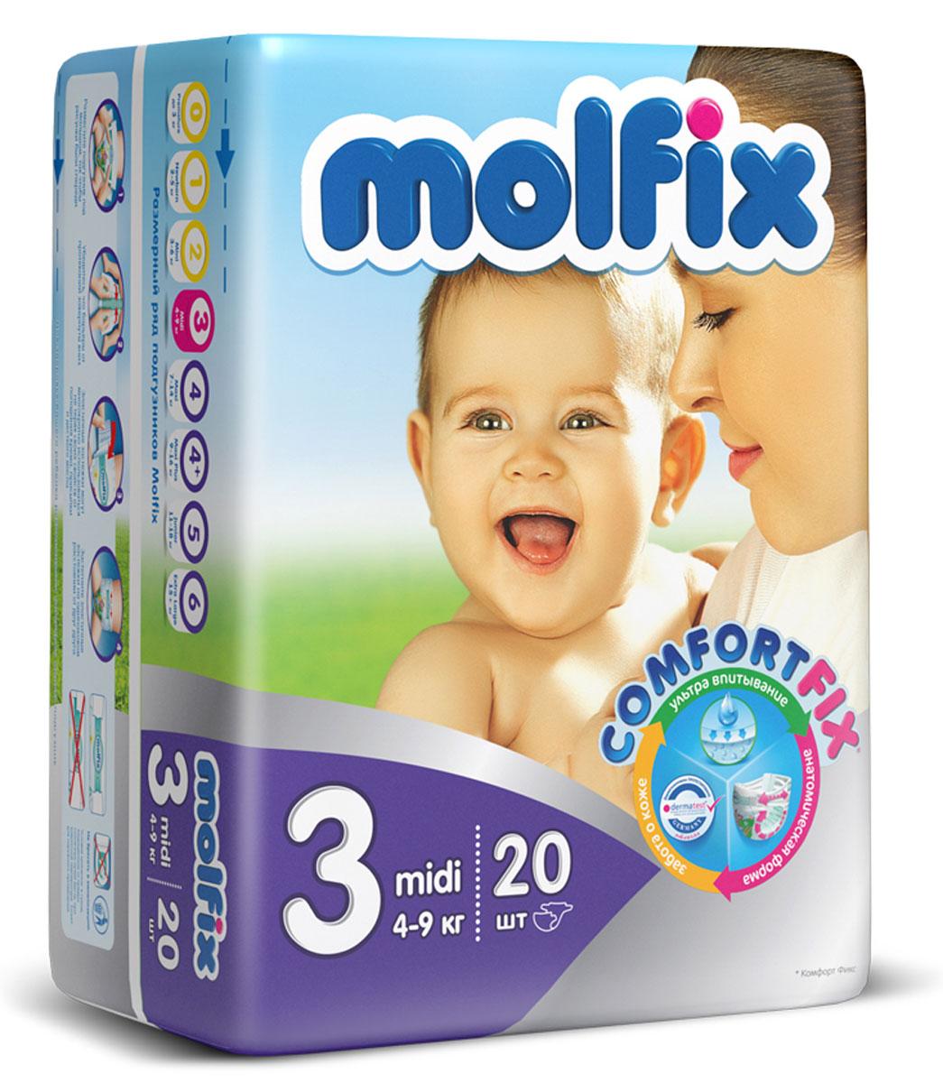 Подгузники Molfix Миди (4-9 кг), 20 шт
