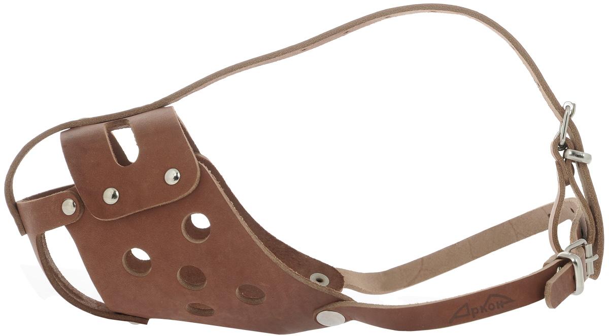 Намордник для собак Аркон, цвет: коньячный. Размер 34 см. н34бс намордник для собак аркон цвет коньячный размер 36 см