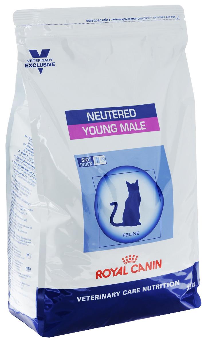 Корм сухой Royal Canin Young Male для кастрированных котов с момента операции до 7 лет, 3,5 кг60695Royal Canin Young Male - полнорационный сухой корм для кастрированных котов с момента операции до 7 лет.Оптимальный вес:- обогащенная белками формула способствует лучшему поддержанию мышечного тонуса по сравнению с обычным режимом питания, повышению вкусовых качеств корма. При одном и том же уровне метаболизма белки дают на 30% меньше чистой энергии, чем углеводы. L-карнитин улучшает транспорт жирных кислот в митохондрии.Умеренное содержание крахмала: - пониженный уровень крахмала и, соответственно, энергии позволяет не набирать лишний вес и уменьшает риск развития диабета. S/O Index :Знак S/O Index на упаковке означает, что диета предназначена для создания в мочевыделительной системе среды, неблагоприятной для образования кристаллов оксалата кальция. Состав: рис, дегидратированные белки животного происхождения (птица), изолят растительных белков, растительная клетчатка, гидролизат белков животного происхождения, животные жиры, минеральные вещества, экстракт цикория, рыбий жир, соевое масло, фруктоолигосахариды, оболочка и семена подорожника, экстракт бархатцев прямостоячих (источник лютеина). Добавки (в 1 кг): витамин A - 19500 ME, витамин D3 - 700 ME, железо - 42 мг, йод - 3 мг, марганец - 55 мг, цинк - 136 мг, сeлeн - 0,06 мг.Содержание питательных веществ: белки - 40%, жиры - 10%, минеральные вещества - 8,9%, клетчатка пищевая - 5,7%, крахмал - 22,7%, медь - 15 мг/кг. Товар сертифицирован.