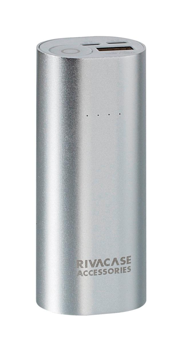 Rivapower VA1005 внешний аккумуляторVA 1005Rivapower VA1005 - литий-ионный внешний аккумулятор емкостью 5000 мАч. Два входа устройства предназначены для заряда аккумуляторной батареи через кабель с Micro - USB разъемом или через оригинальный кабель Apple Lightning. Аккумулятор совместим с наиболее популярными мобильными устройствами, в том числе и с iPhone и iPad.Подключите мобильное устройство к аккумулятору и зарядка начнется автоматически, а по ее завершении устройство отключится. Четыре светодиодных индикатора на лицевой стороне покажут уровень заряда аккумулятора. Защита от перегрева, перезаряда, переразряда, перегрузки по току и короткого замыкания защитит устройство от повреждений и выхода из строя.Надежный алюминиевый корпус защищает Rivapower VA1005 от случайного повреждения, поглощает и отводит тепло, производимое аккумулятором. Полностью заряженный аккумулятор заряжает смартфон до 2 раз или планшет 1 раз (в зависимости от емкости батареи мобильного устройства). Аккумуляторная батарея Rivapower VA1005 при правильной эксплуатации может быть заряжена более 500 раз.