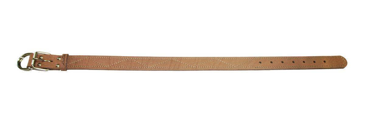Ошейник Аркон Стандарт, цвет: бежевый, ширина 3,5 см, длина 86 смо35/3дОшейник Аркон Стандарт изготовлен из кожи, устойчивой к влажности и перепадам температур. Клеевой слой, сверхпрочные нити, крепкие металлические элементы делают ошейник надежным и долговечным.Изделие отличается высоким качеством, удобством и универсальностью.Размер ошейника регулируется при помощи пряжки, зафиксированной на одном из 7 отверстий. Минимальный обхват шеи: 63 см. Максимальный обхват шеи: 80 см. Ширина: 3,5 см.