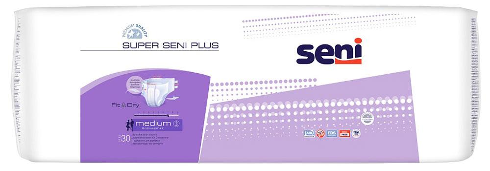 Подгузники для взрослых Super Seni Plus. Размер 2 (medium), 30 шт seni super air small подгузники n10