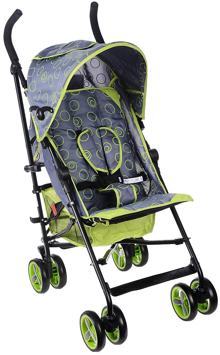 Melogo Детская коляска цвет серый зеленый