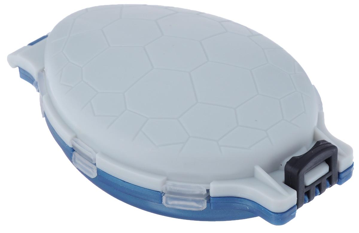 Органайзер для мелочей, двухсторонний, цвет: серый, синий, 11 х 7,5 х 2,5 см