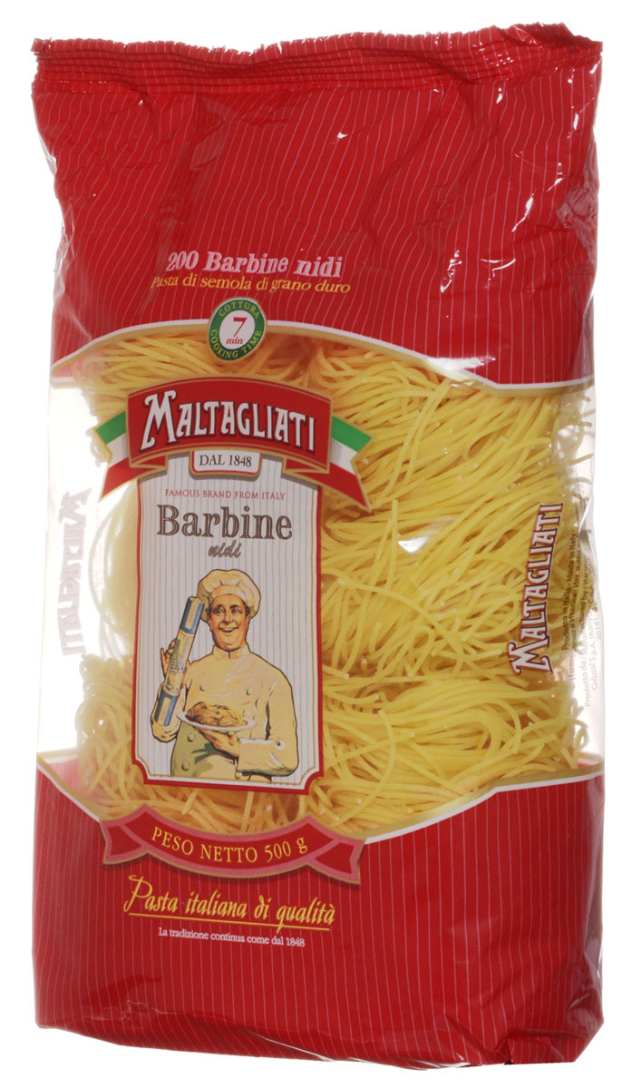 Maltagliati Barbine nidi Клубки вермишель макароны, 500 г federici вермишель макаронные изделия 500 г