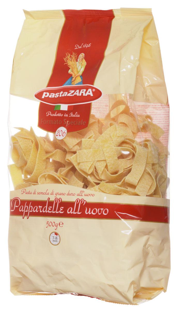 Pasta Zara Клубки яичные широкие паппарделле макароны, 500 г grand di pasta гнезда феттучине 500 г