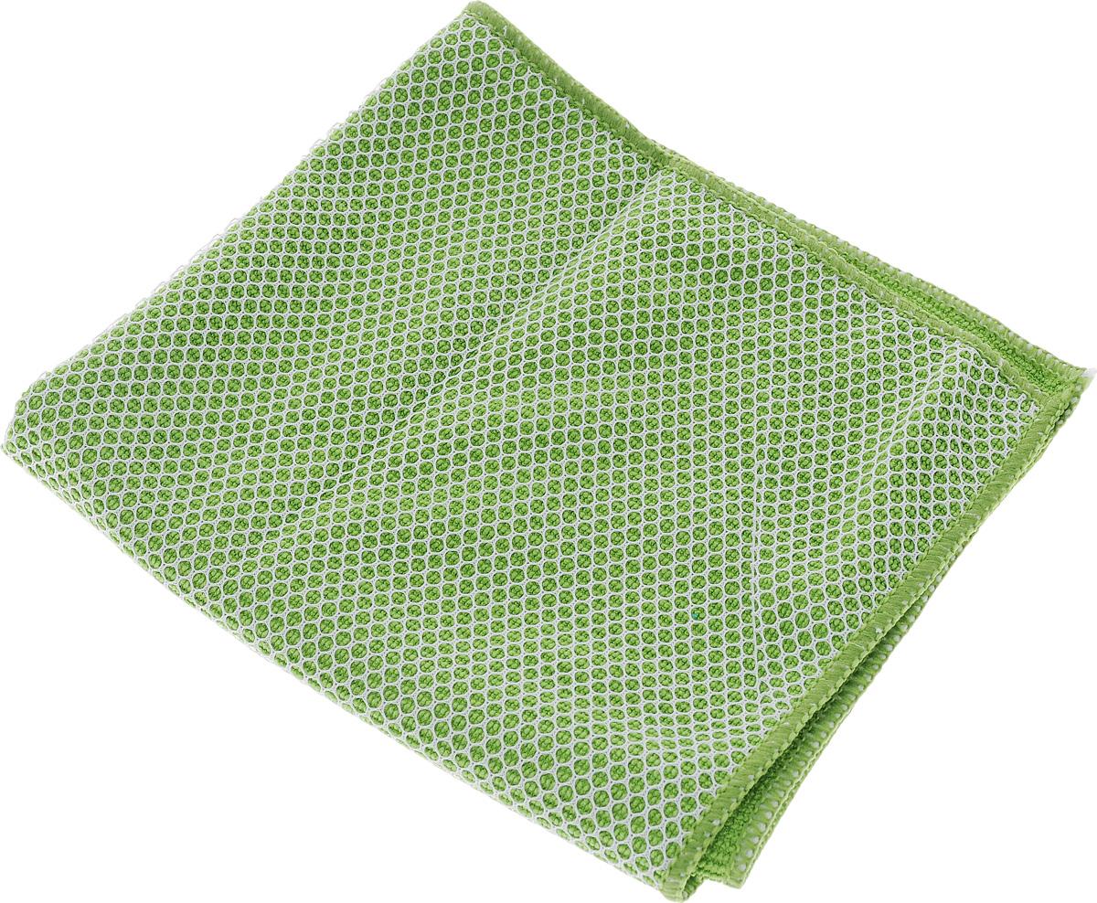 Салфетка для мытья и полировки автомобиля Sapfire Netting Cloth, цвет: зеленый, 35 х 35 см салфетка чистящая для мытья и полировки автомобиля sapfire netting cloth цвет голубой 35 х 35 см
