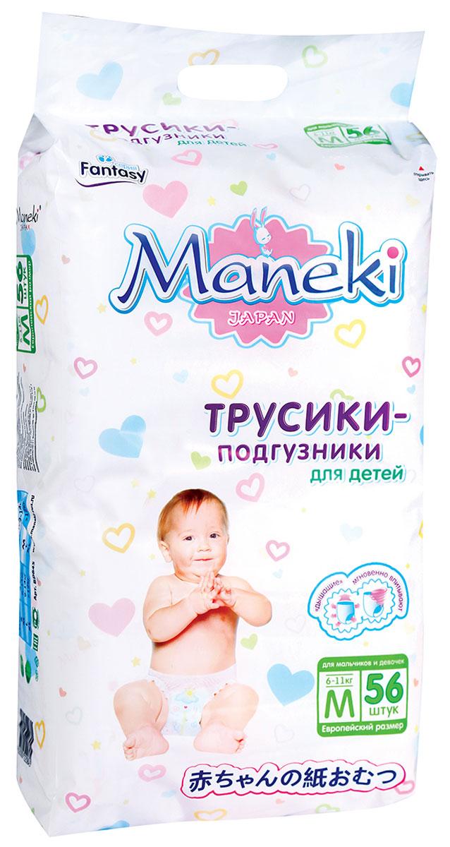 Maneki Подгузники-трусики Fantasy M 6-11 кг 56 шт - Подгузники и пеленки