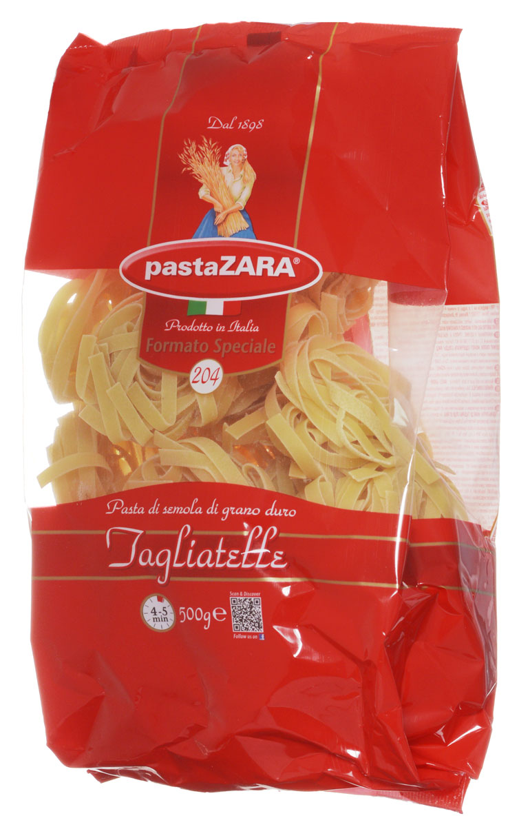 Pasta Zara Клубки средние тальятелле макароны, 500 г maltagliati filini паутинка макароны 500 г
