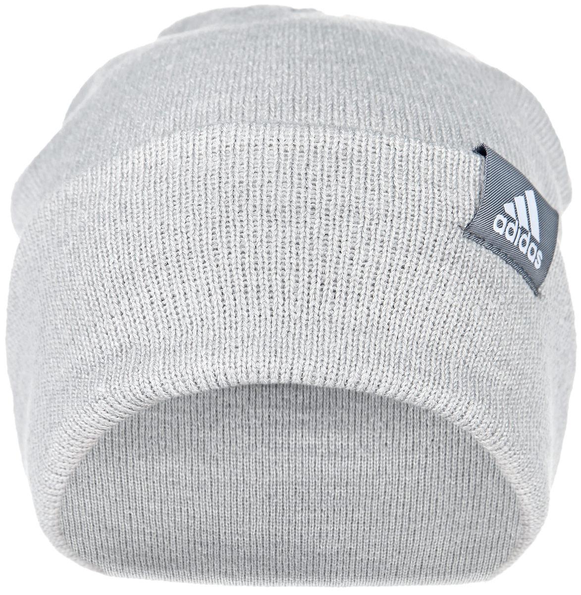 Шапка Adidas Performance, цвет: серый. AB0350. Размер 58AB0350Шапка Adidas Performance отлично подойдет для повседневной носки в прохладную погоду. Шапка выполнена из высококачественного акрила, что позволяет ей максимально сохранять тепло и обеспечивает идеальную посадку. Модель выполнена с отворотом.Такая шапка станет модным дополнением к вашему гардеробу. Она подарит вам ощущение тепла и комфорта. Уважаемые клиенты!Размер, доступный для заказа, является обхватом головы.