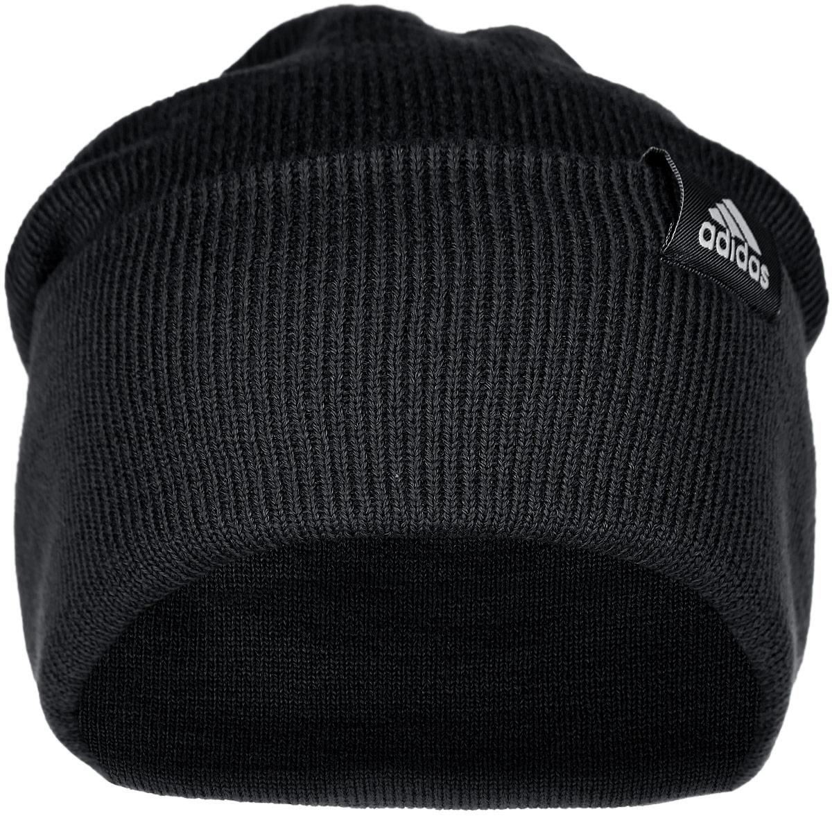 Шапка Adidas Performance, цвет: черный. AB0349. Размер 56AB0349Шапка Adidas Performance отлично подойдет для повседневной носки в прохладную погоду. Шапка выполнена из высококачественного акрила, что позволяет ей максимально сохранять тепло и обеспечивает идеальную посадку. Модель выполнена с отворотом.Такая шапка станет модным дополнением к вашему гардеробу. Она подарит вам ощущение тепла и комфорта. Уважаемые клиенты!Размер, доступный для заказа, является обхватом головы.