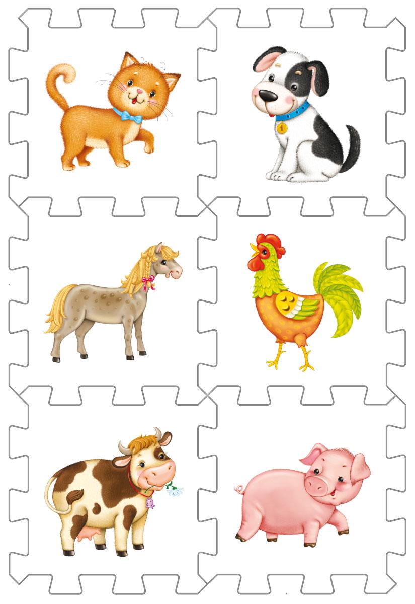 Робинс Кубик-развивайка Домашние животные робинс обучающая игра домашние животные