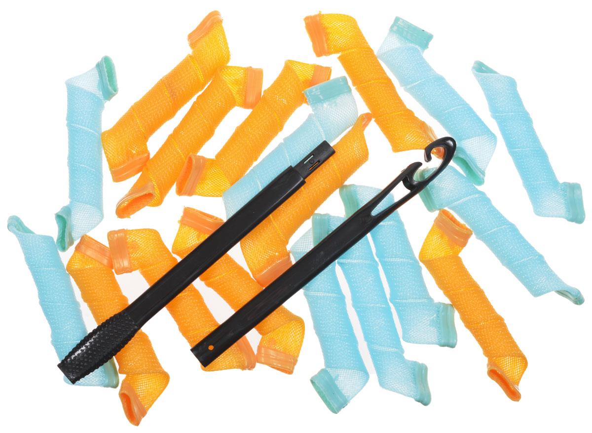 Magic Leverag Бигуди средние 25 см, 18 шт., цвет: голубой, оранжевыйСр25_голубой,оранжевыйMagic Leverag Бигуди средние 25 см, 18 шт., цвет: голубой, оранжевый