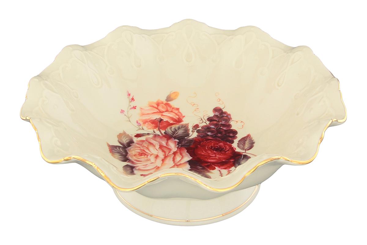 Конфетница Elan Gallery Бархатный нектар, диаметр 20 см конфетницы elan gallery корзинка бабочки