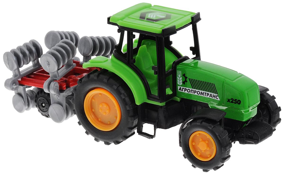 ТехноПарк Трактор с прицепом цвет зеленый бу двигатель на трактор
