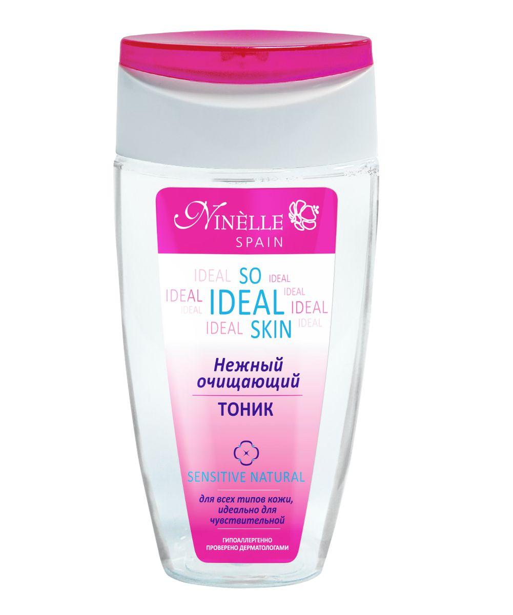 Ninelle So Ideal Skin Нежный очищающий тоник, 150 мл1070N10779Тоник серии SO IDEAL SKIN завершает процедуру очищения эффективно увлажняя и тонизируя кожу. Обеспечивает ей ощущение чистоты, свежести и комфорта. Средство интенсивно питает и смягчает кожу, гарантируя ей надежную защиту от негативного факторов окружающей среды, тем самым сохраняя ее красоту, молодость и здоровье. Содержит Hydromanil complex, Avenacare complex, Хлопковое масло, Бета-глюкан, Аллантоин, SPF6, UVA/UVB защита. Идеально подходит для ухода даже за самой нежной и чувствительной кожей. Не содержит алкоголя.