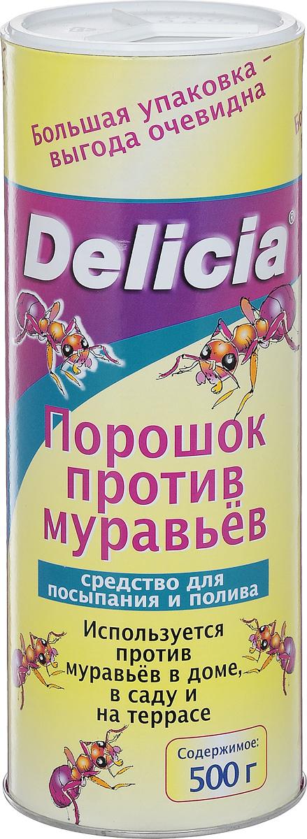 Порошок против муравьев Delicia, 500 г1558-760Порошок Delicia используется против муравьев в доме, саду и на террасе. Средство может применяться как для посыпания, так и для полива. Муравьи переносят порошок в свое гнездо, где он поедается муравьиной королевой и подрастающим потомством. Коме того, порошок обладает контактным действием.Действующее вещество: 10 г/кг хлорпирифос. Противоядие: атропин + токсогонин (при врачебном контроле).Товар сертифицирован.