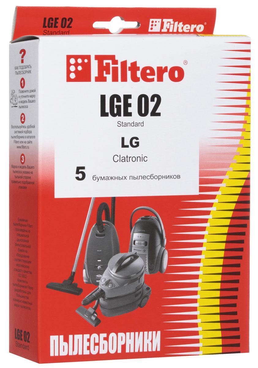 Filtero LGE 02 Standard пылесборник (5 шт)LGE 02 (5) StandardОдноразовые бумажные мешки для пылесосов Filtero LGE 02 Standard сделаны из высококачественной многослойной фильтровальной бумаги, которая пропускает воздух, но задерживает даже самые маленькие частицы пыли.Бумажные мешки для пылесосов защищают двигатель от основного потока пыли, а, следовательно, и от перегрева вследствие засорения и преждевременного износа. Они предназначены для одноразового использования и прекрасно подходят для уборки в больших помещениях.Пылесборники подходят для следующих моделей пылесосов:LG43... Limpio44... Limpioнапример:4440 Limpio45... Limpio V 28...например:V 2810 TEV 40...V 44...V 45...V-C 43...CLATRONIC BS 1206