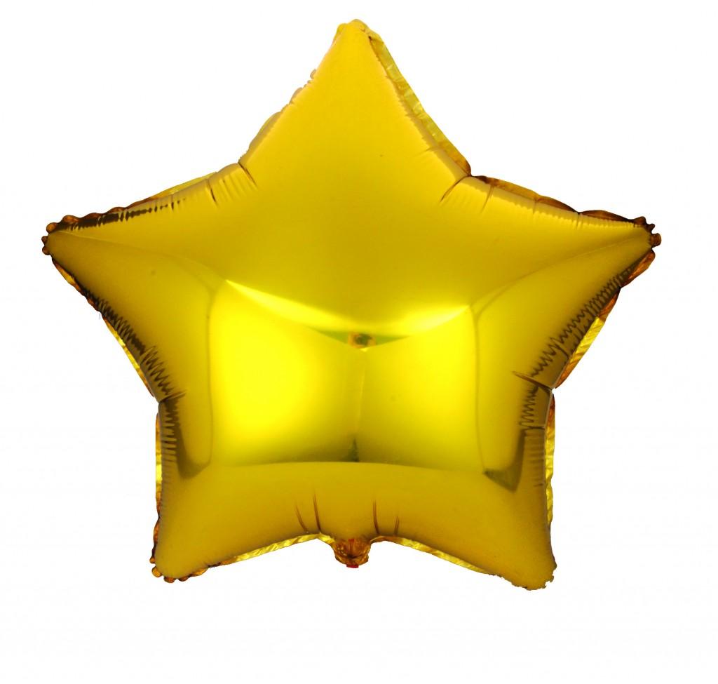 Action! Шар фольгированный Звезда цвет золотистый -  Воздушные шарики