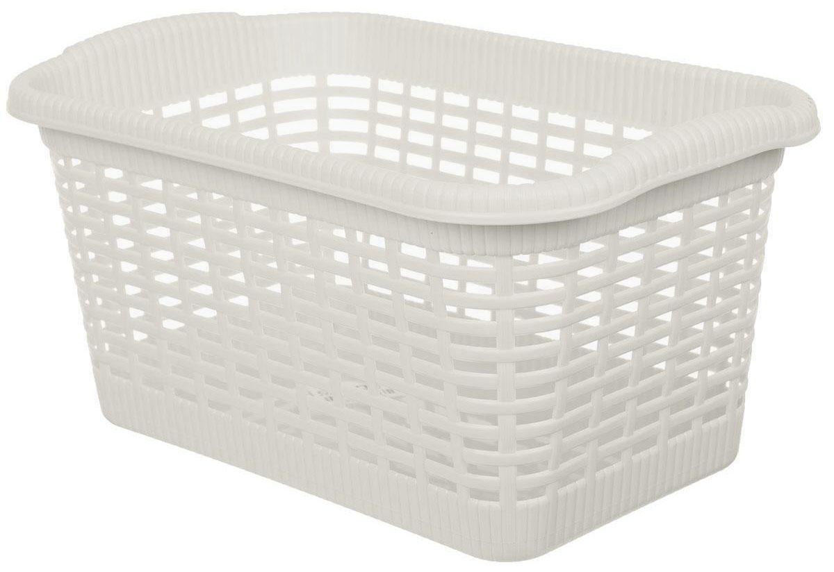 """Универсальная корзина """"Gensini"""", выполненная из полипропилена, предназначена для хранения мелочей в ванной, на кухне, даче или гараже. Позволяет хранить мелкие вещи, исключая возможность их потери. Легкая воздушная корзина с жесткой кромкой, с узором из отверстий в форме прямоугольников.Размер основания корзины: 34 х 21 см."""