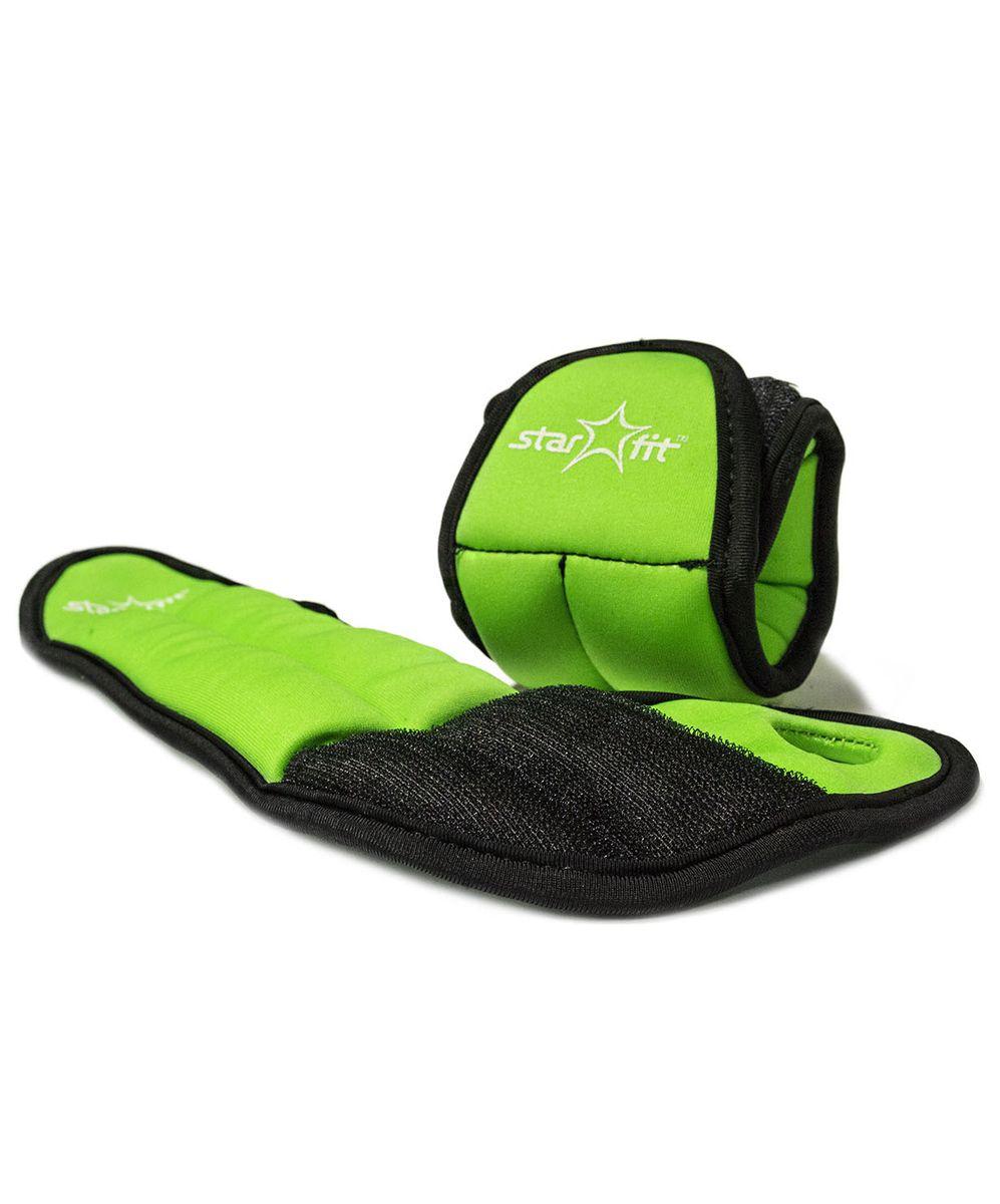 Утяжелители Starfit  WT-201 , цвет: зеленый, черный, 1 кг, 2 шт - Фитнес