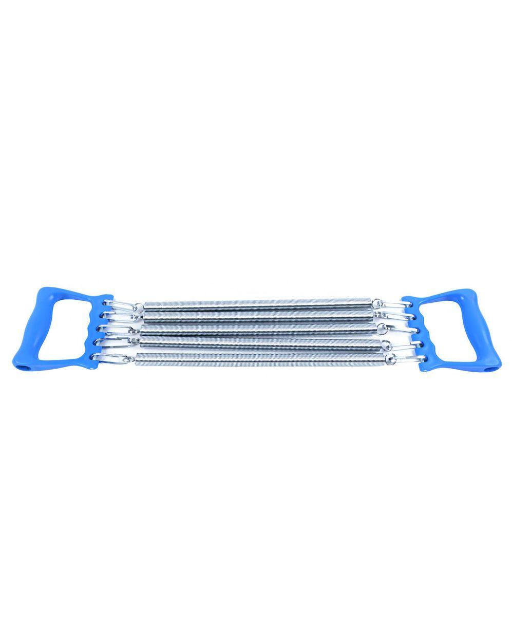 Эспандер плечевой Starfit ES-101, 5 струн, цвет: синий эспандер ленточный starfit es 201 цвет серый 1200 х 150 х 0 55 мм