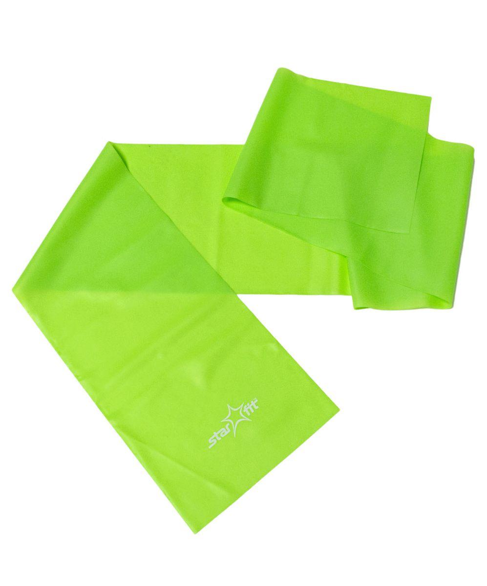 Эспандер ленточный Starfit ES-201, цвет: зеленый, 120 х 15 х 0,35 см эспандер многофункциональный starfit es 602 0 4 х 1 4 х 140 см