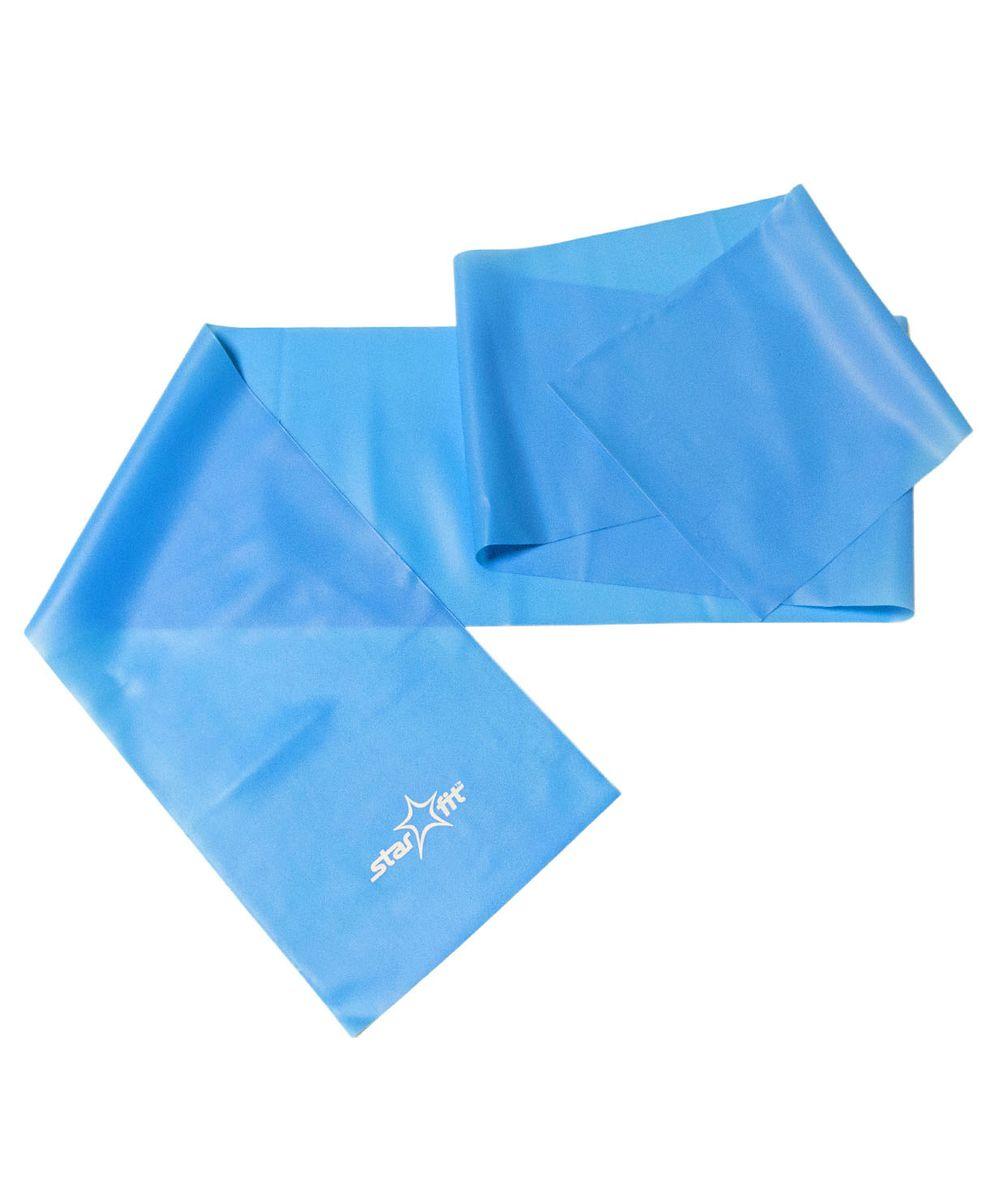 Эспандер ленточный Starfit ES-201, цвет: синий, 120 х 15 х 0,45 см эспандер ленточный starfit es 201 цвет серый 1200 х 150 х 0 55 мм