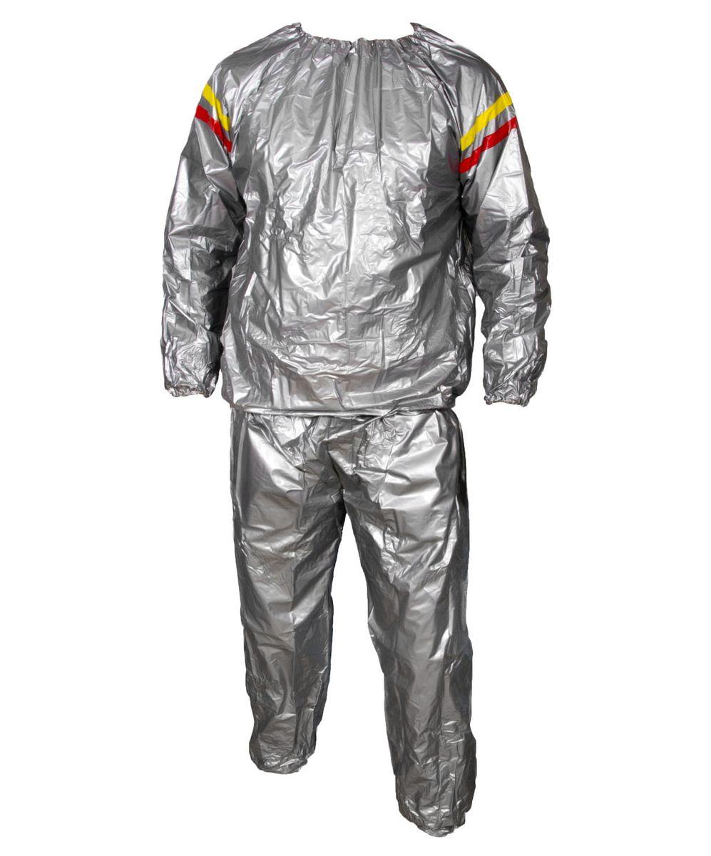 Костюм-сауна Starfit SW-101, цвет: серый. Размер XLУТ-00007373Костюм-сауна Star Fit SW-101 - это незаменимый аксессуар для людей, кто стремится убрать лишний вес в кратчайшие сроки. Костюм подходит и для женщин, и для мужчин. Верхняя и нижняя части костюма могут применяться как вместе, так и по отдельности. Сделанный из уникальной ткани, он задерживает тепло, создавая эффект сауны. При использовании этого костюма пропадает лишний вес, калории сжигаются в несколько раз быстрее, чем во время обычных физических нагрузок. Для полноценного эффекта, костюм необходимо использовать при регулярных физических нагрузках.