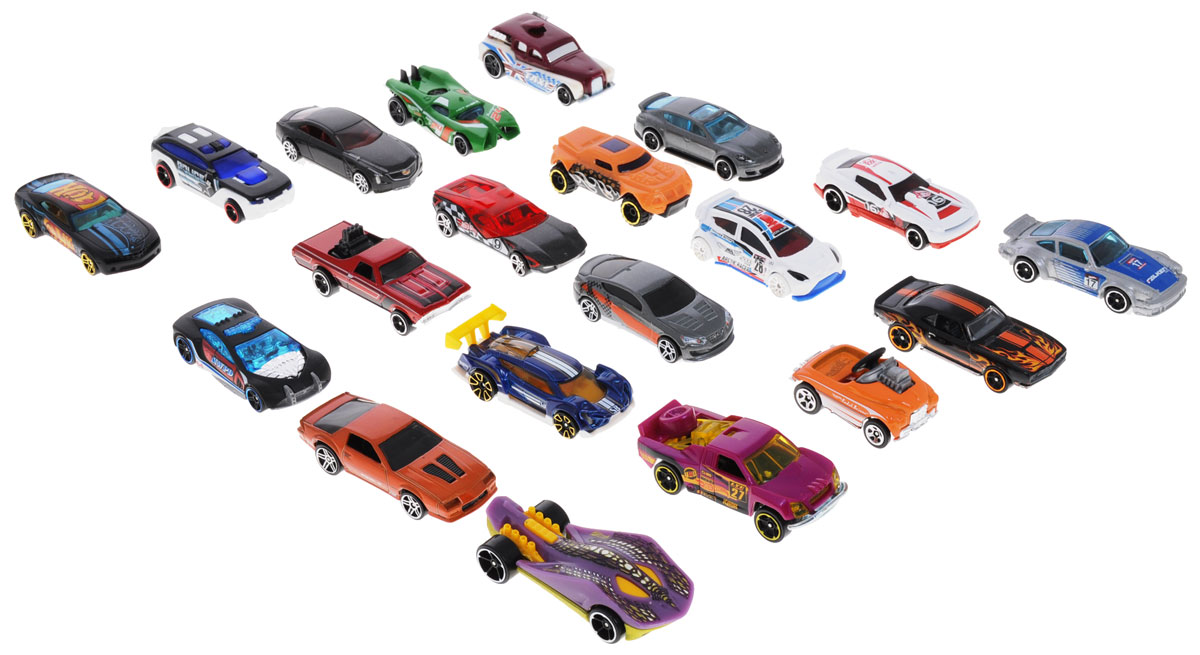 Hot Wheels Набор машинок 20 шт hot wheels 1806 подарочный набор из 5 машинок hw street beasts
