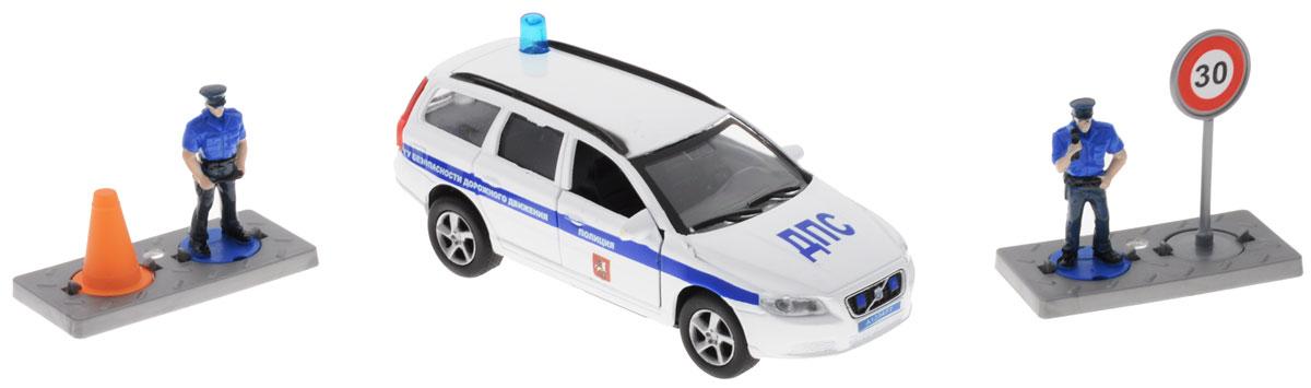 Пламенный мотор Машинка инерционная Volvo Полиция ДПС ГУ БДД машинка пламенный мотор внедорожник 87589