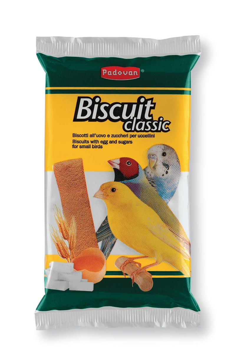 Лакомство Padovan Biscuit classic для декоративных птиц, 5 шт х 30 г болезни декоративных птиц