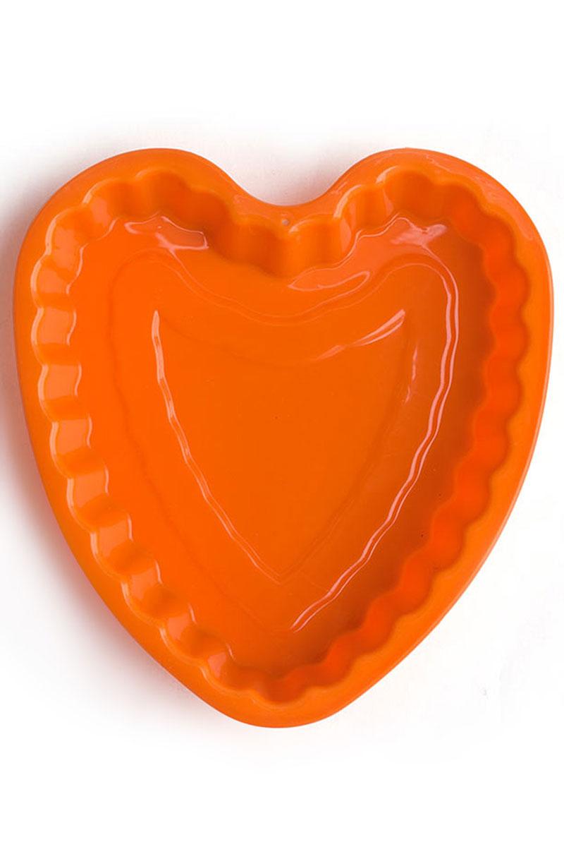 Форма для выпечки Calve Сердце, силиконовая, цвет: оранжевый, 21 х 20 х 4 смCL-4550Форма для выпечки Calve Сердце изготовлена из высококачественного силикона в виде сердца. Стенки формы легко гнутся, что позволяет легко достать готовую выпечку и сохранить аккуратный внешний вид блюда. Изделия из силикона очень удобны в использовании: пища в них не пригорает и не прилипает к стенкам, форма легко моется. Приготовленное блюдо можно очень просто вытащить, просто перевернув форму, при этом внешний вид блюда не нарушится. Изделие обладает эластичными свойствами: складывается без изломов, восстанавливает свою первоначальную форму. Порадуйте своих родных и близких любимой выпечкой в необычном исполнении. Подходит для приготовления в микроволновой печи и духовом шкафу при нагревании до +230°С; для замораживания до -40°.Размер формы: 21 х 20 х 4 см.