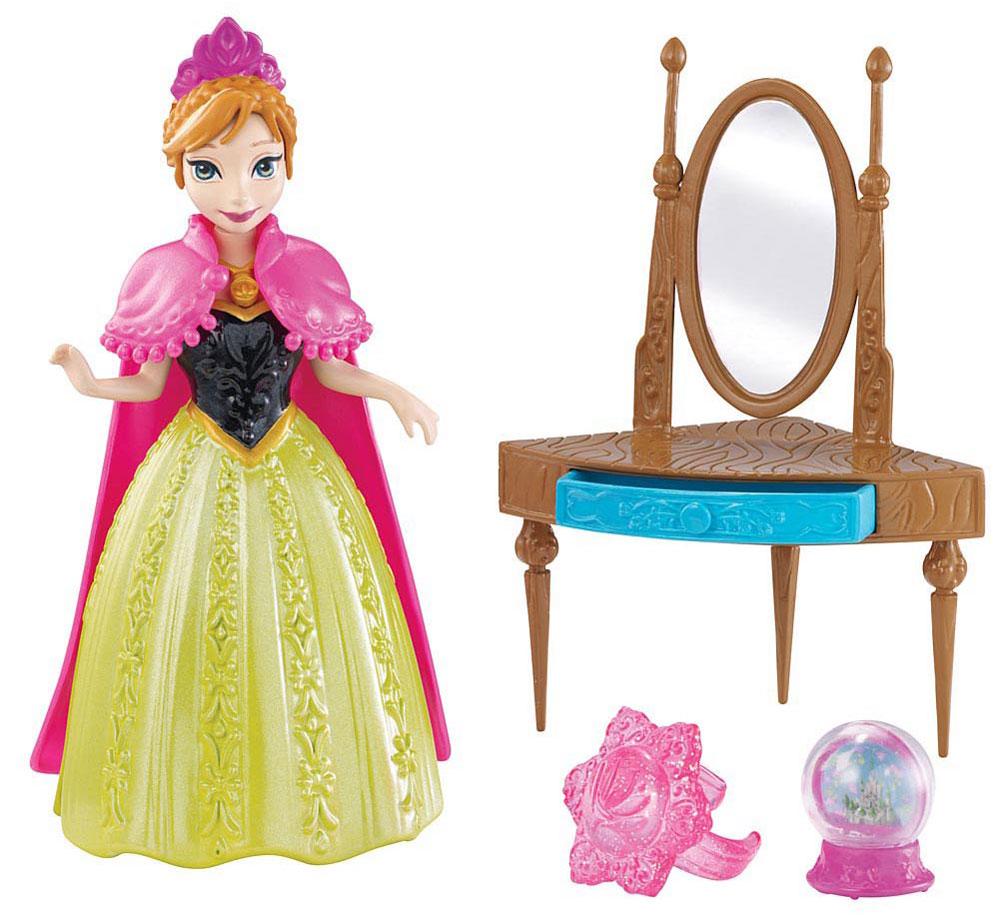 Disney Frozen Игровой набор с мини-куклой Анна туалетный столик с зеркалом белый
