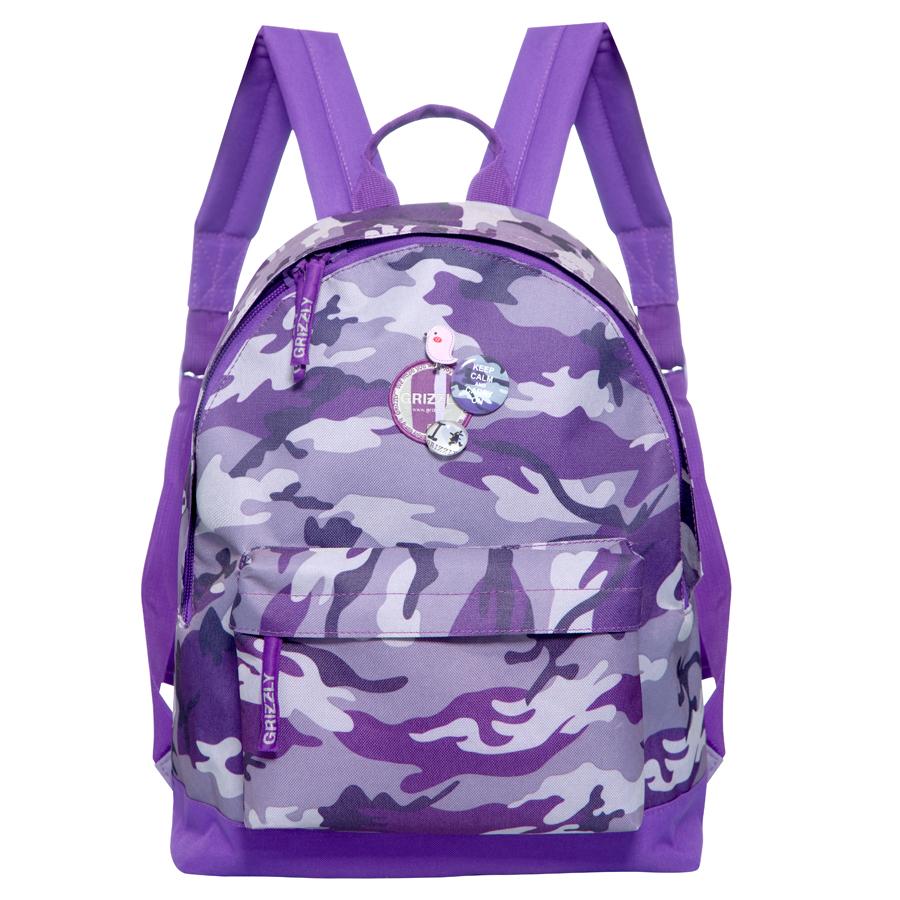 Рюкзак городской Grizzly, цвет: фиолетовый, 24 л. RD-646-1/4 рюкзак городской женский grizzly цвет хаки 16 л rd 533 1 4