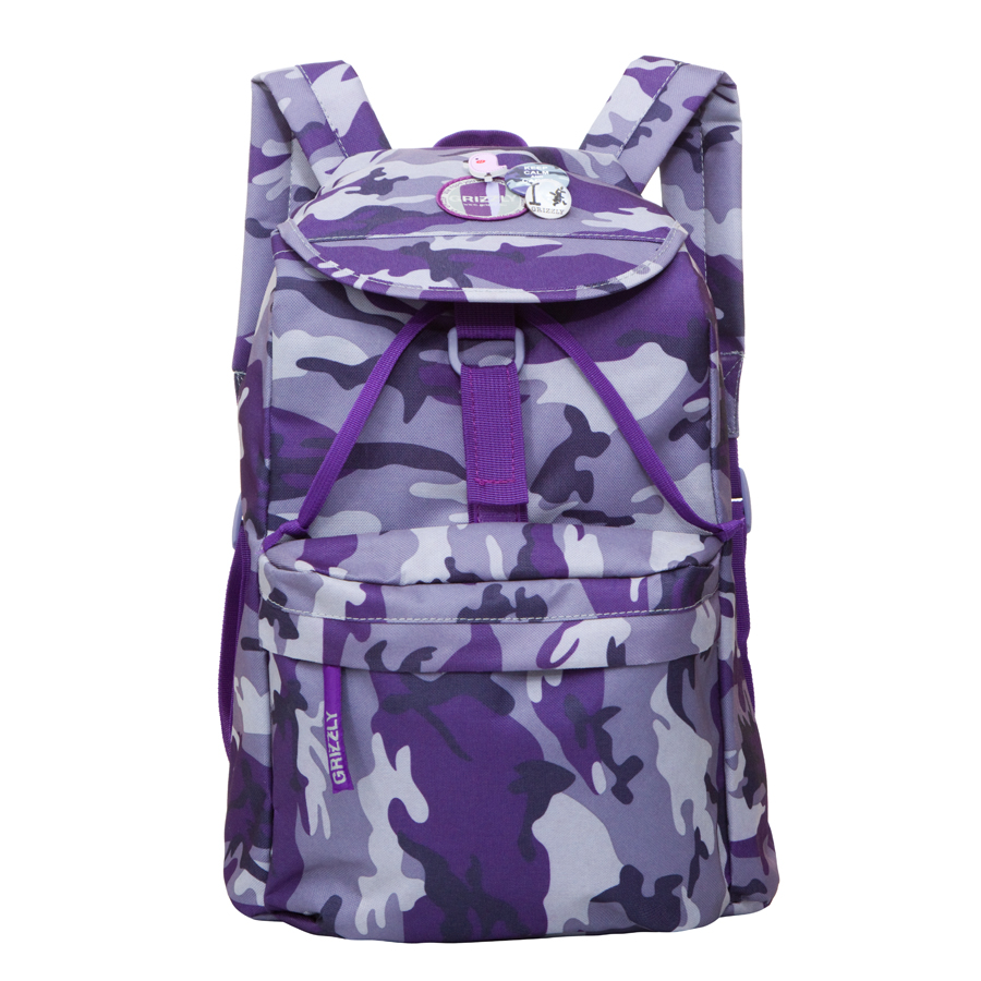 Рюкзак городской Grizzly, цвет: фиолетовый, 22 л. RD-646-2/4 рюкзак городской женский grizzly цвет хаки 16 л rd 533 1 4