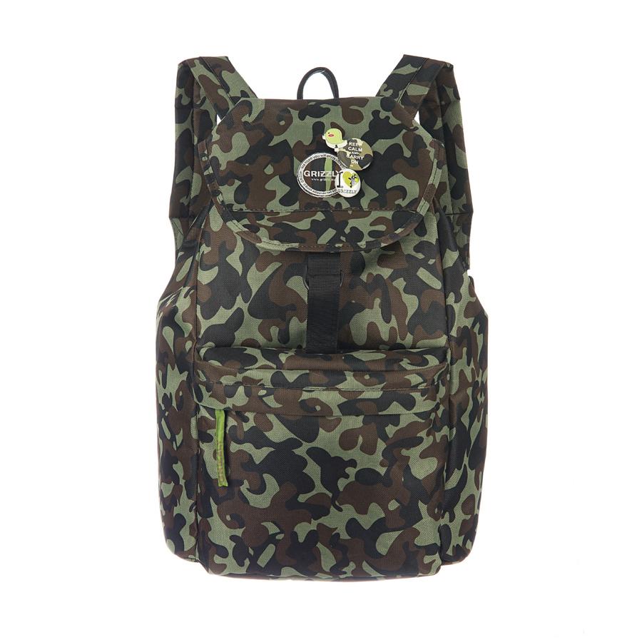 Рюкзак городской Grizzly, цвет: хаки, 22 л. RD-646-4/5RD-646-4/5Рюкзак молодежный, одно отделение, клапан на липучках, объемный карман на молнии на передней стенке, внутренний карман на молнии, мягкая спинка, дополнительная ручка-петля, укрепленные лямки, закрывается затягивающимся шнуром