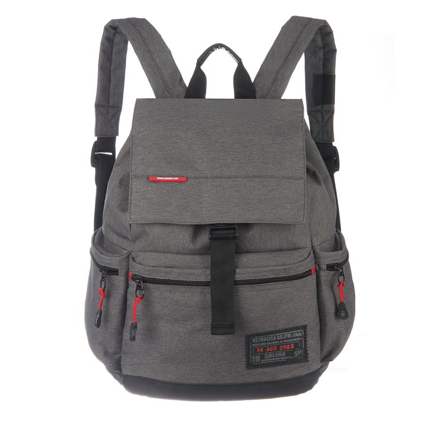 Рюкзак городской Grizzly, цвет: серый , 25 л. RU-614-1/4 рюкзак городской grizzly цвет черный желтый 22 л ru 603 1 2