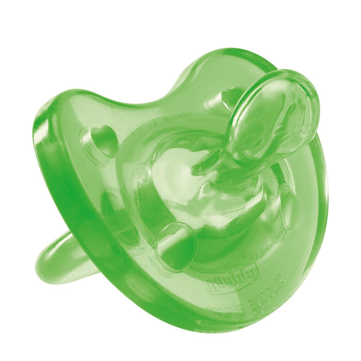Chicco Пустышка Physio Soft силиконовая от 4 месяцев цвет зеленый