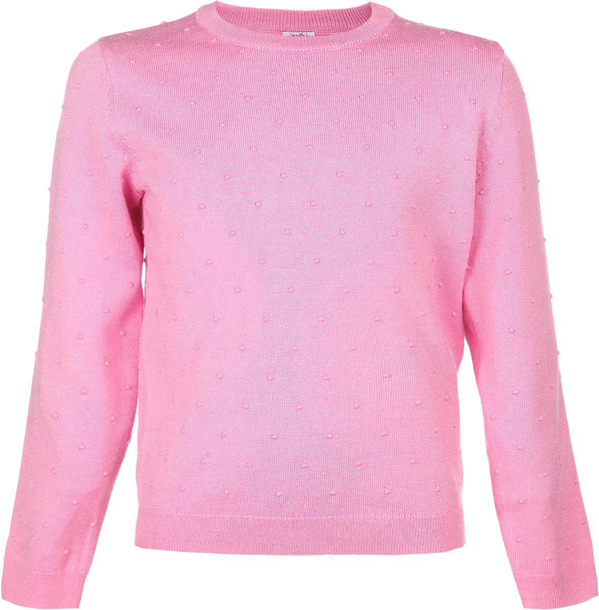 Джемпер для девочки Sela, цвет: светло-розовый. JR-514/144-6131. Размер 98, 3 годаJR-514/144-6131Джемпер для девочки Sela идеально подойдет вашей маленькой моднице. Изготовленный из вискозы с добавлением нейлона, он необычайно мягкий и приятный на ощупь, не сковывает движения, обеспечивая наибольший комфорт. Модель с длинными рукавами и круглым вырезом горловины оформлена рельефным узором. Вырез горловины, низ джемпера и рукава дополнены трикотажной эластичной резинкой. Современный дизайн и расцветка делают этот джемпер модным и стильным предметом детского гардероба. В нем ваша дочурка будет чувствовать себя уютно, комфортно и всегда будет в центре внимания!